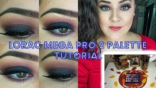 getlinkyoutube.com-Tutorial featuring the NEW Lorac MEGA Pro 2 Palette