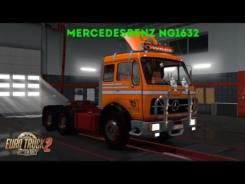 Euro Truck Simulator 2 Обзор мода (MERCEDES BENZ NG 1632) Финальная версия