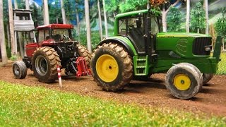 getlinkyoutube.com-RC TRACTOR pulling battle - WHO WIN ??? farm toys in action