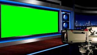 getlinkyoutube.com-Virtual Green Screen News Studio Animated Tv Camera