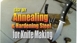 getlinkyoutube.com-DIY Annealing and Hardening Steel for Knife Making 1