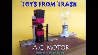 getlinkyoutube.com-A. C.  MOTOR - HINDI - Motor form a salvaged tube-light choke!