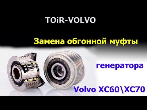 Где в Volvo S40 находится натяжной ролик ремня генератора