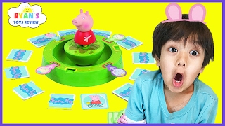 PEPPA PIG TUMBLE & SPIN GAME! Family Fun Game for Kids Egg Surprise Toys! Children Activities memory