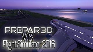 getlinkyoutube.com-Flight Simulator 2016 VS Prepar3D v3.2