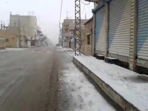 الحسكة الناصرة منظر رائع لأول يوم من  تساقط الثلوج 11 12 2013 t c k