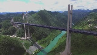 getlinkyoutube.com-Bridges of China—Aerial Drone Footage航拍四渡河、忠建河、矮寨大桥