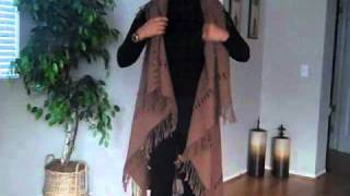 getlinkyoutube.com-FASHION du jour | How To Make A Scarf Dress DIY