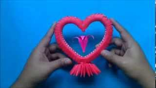 getlinkyoutube.com-Origami 3D Corazon