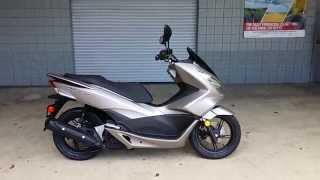 getlinkyoutube.com-2016 Honda PCX150 Scooter | Steel Grey - Walk-Around Video