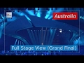 Dont Come Easy - Australia Full Stage View - Isaiah - Eurovision Song Contest 2017 - Final