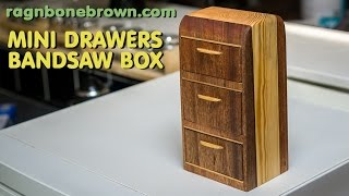 getlinkyoutube.com-Making A Miniature Chest of Drawers - bandsaw box woodwork project