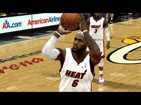 NBA 2k: Playoffs 2012: Lebron James 32 Points - Miami Heat v