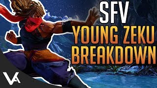 SFV - Young Zeku Gameplay Trailer Breakdown! Combos & Move List Analysis For Street Fighter 5