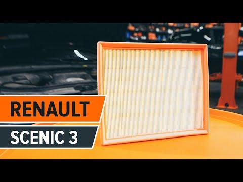... pakeisti variklio oro filtras RENAULT SCENIC 3 PAMOKA | AUTODOC