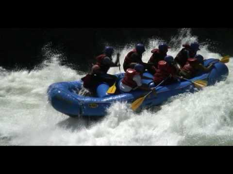 Whitewater Rafting India into the WALL on the Ganges at Rishikesh