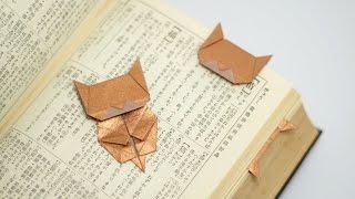 getlinkyoutube.com-Origami Neko Bookmark (Jo Nakashima)