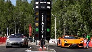 getlinkyoutube.com-Porsche 911 Turbo vs Lamborghini Aventador vs Corvette ZR1 vs Audi RS7