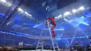 getlinkyoutube.com-WWE1 Wrestlemania XXV 2009 Money in The Bank Ladder Match LQ BrockWWE info