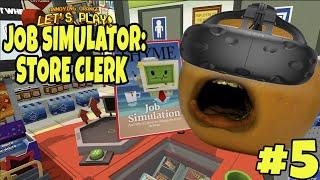 getlinkyoutube.com-Annoying Orange Plays - Job Simulator #5: STORE CLERK