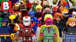 getlinkyoutube.com-Every LEGO Marvel Superhero Minifigure Ever Made!!!