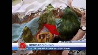 getlinkyoutube.com-San Miguel: Taller gratuito de bordado chino con salida laboral.