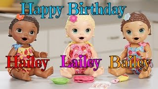 getlinkyoutube.com-Happy Birthday Hailey, Bailey, and Lailey