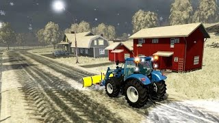 getlinkyoutube.com-Bjornholm Snow Map in Farming Simulator 2015 Winter Snow Mod