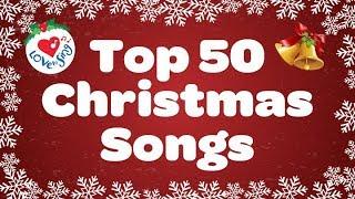 Top 50 Christmas Songs & Carols | Over 2 Hours Beautiful Xmas Music | Merry Christmas