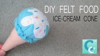 getlinkyoutube.com-DIY Felt Food: Ice-Cream Cone