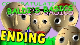 Baldi's Basics in Education and Learning -  ( FULL / ENDING / ALL EXITS + NOTES ) Manly LET'S PLAY