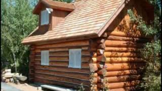 getlinkyoutube.com-Custom Log Cabin Playhouse