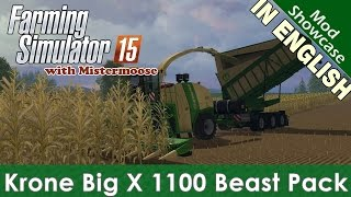 getlinkyoutube.com-Farming Simulator 2015 - Krone Big X 1100 Beast Pack - Mod Showcase