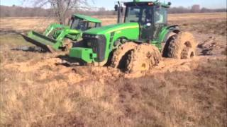 getlinkyoutube.com-Tractors stuck in the mud!