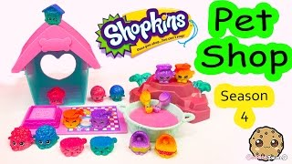 getlinkyoutube.com-Shopkins Season 4 PET SHOP Full Collection Tour Ultra Rare PetShop Toys Video - Cookieswirlc