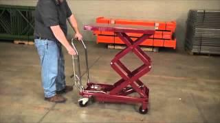 getlinkyoutube.com-Northern Industrial Hydraulic Lift Table 770-Lb. Capacity