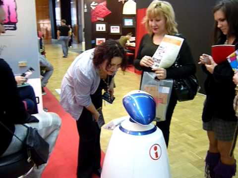 Robot R.Bot at the Design and Advertisement exhibition 2010