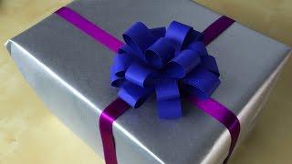 getlinkyoutube.com-Geschenkschleife basteln mit Papier für Weihnachtsgeschenke: Schleife Geschenke verpacken