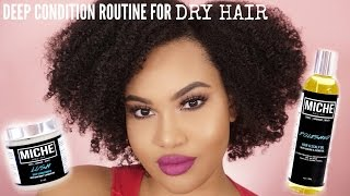 Natural Hair Deep Conditioning Routine For DRY HAIR