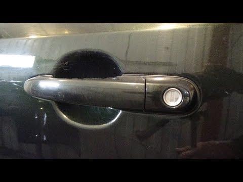 Как снять-поставить наружные дверные ручки, Hyundai Tucson 1.