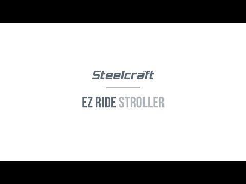 Steelcraft EZ Ride Lightweight Layback Stroller - Black
