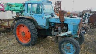 getlinkyoutube.com-Беларусь-МТЗ-80-тупорылый пуск двух старых тракторов.