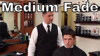 Side Part Haircut with Close Medium Fade - Greg Zorian Haircut Tutorial