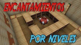 | TUTORIAL REDSTONE | MESA DE ENCANTAMIENTOS POR NIVELES 1.7.2