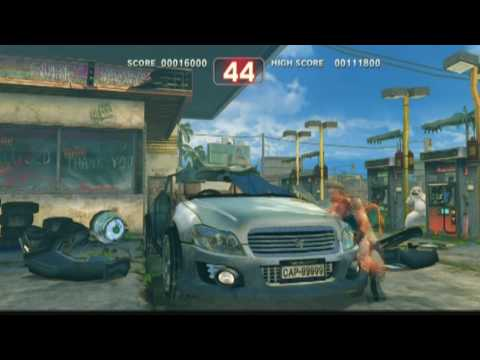 Super Street Fighter 4 Car Crusher