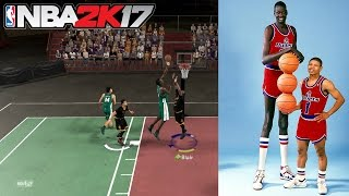 getlinkyoutube.com-NBA 2K17 MyTeam Blacktop- 7'7 MANUTE BOL EMERALD CARD MATCHUP!