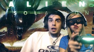 getlinkyoutube.com-MADRE E HIJO vs ALIEN - Alien Isolation