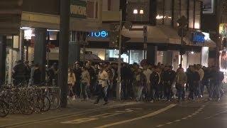Rockeraufmarsch in Bonner Innenstadt am 26.10.2013 löst Großeinsatz der Polizei aus (Rohmaterial)