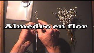 getlinkyoutube.com-Almendro en flor hecho de alambre paso a paso