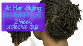 getlinkyoutube.com-4c Hair Styling - Two Week Protective Style